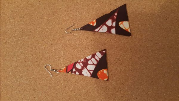 African Design Earrings Triangle