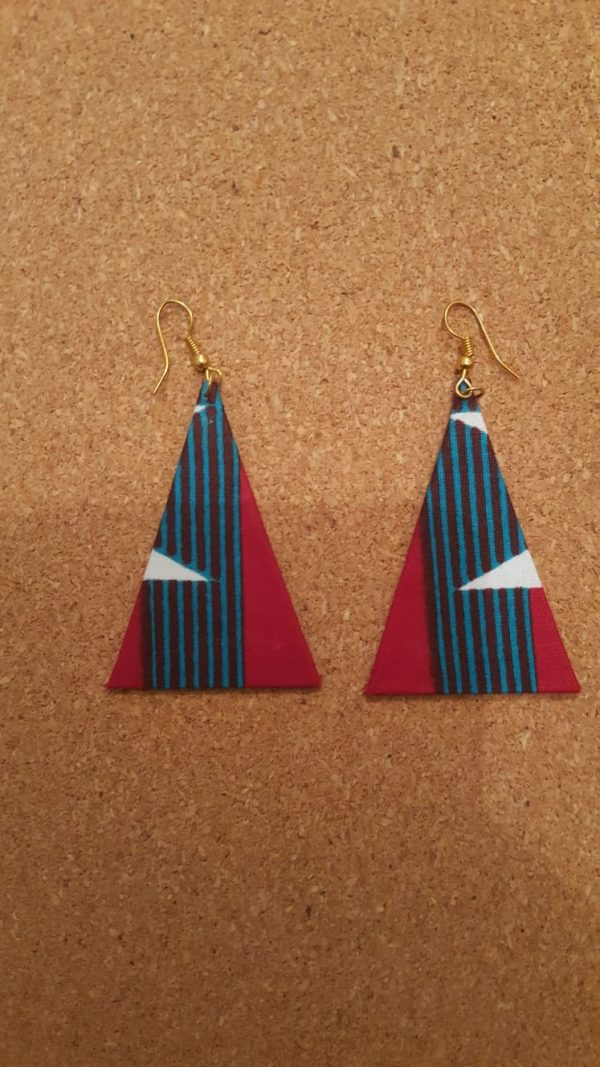 African Design Earrings triangle 7