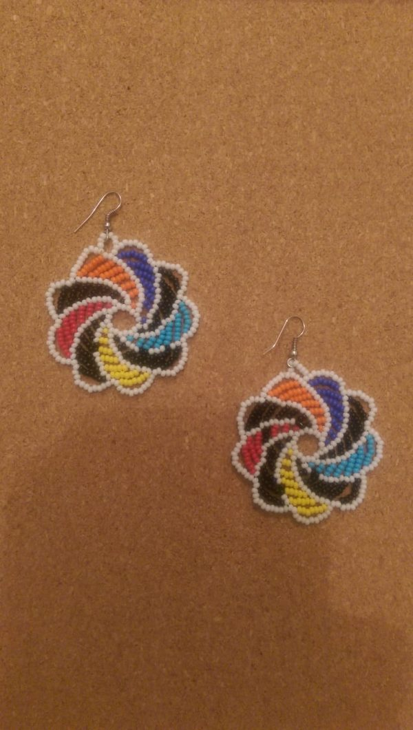 African Beaded Earrings DECORATED