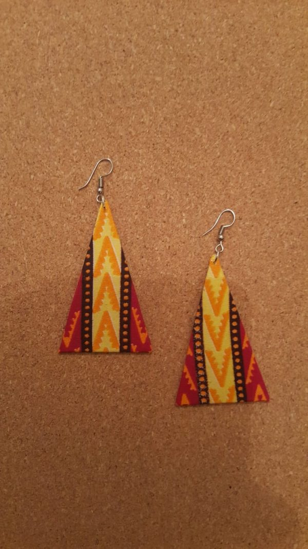 African Earings triangle shield